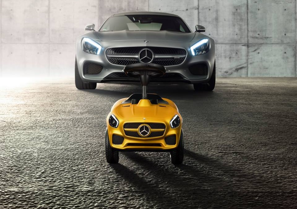 The new Bobby-Car from Mercedes-Benz for the bravest drivers
