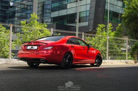 Mercedes CLS chrome red (10)