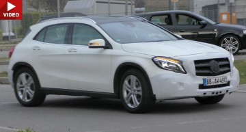 Mercedes GLA facelift shows us its new LED headlights