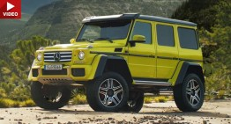 Go explore with T-Rex. Mercedes-Benz G 550 4×4² is coming to the US