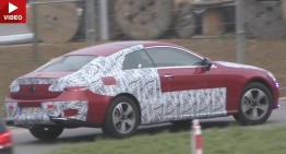 2018 Mercedes E-Class Coupe, almost undisguised in new spy video