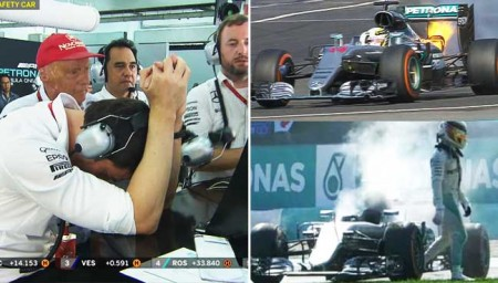 Hamilton out Malaysia