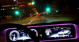Party like a Russian! Road devil races through Moscow in her new Mercedes