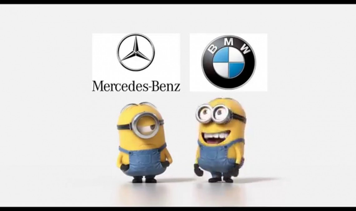 The Mininons fight over Mercedes-Benz and BMW performance