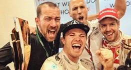 Party like a champion! Nico Rosberg thanks father Keke, champion in 1982