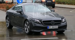 2018 Mercedes E-Class Coupe spied almost camo free