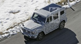 All-new 2018 Mercedes G-Class spied in the Alps