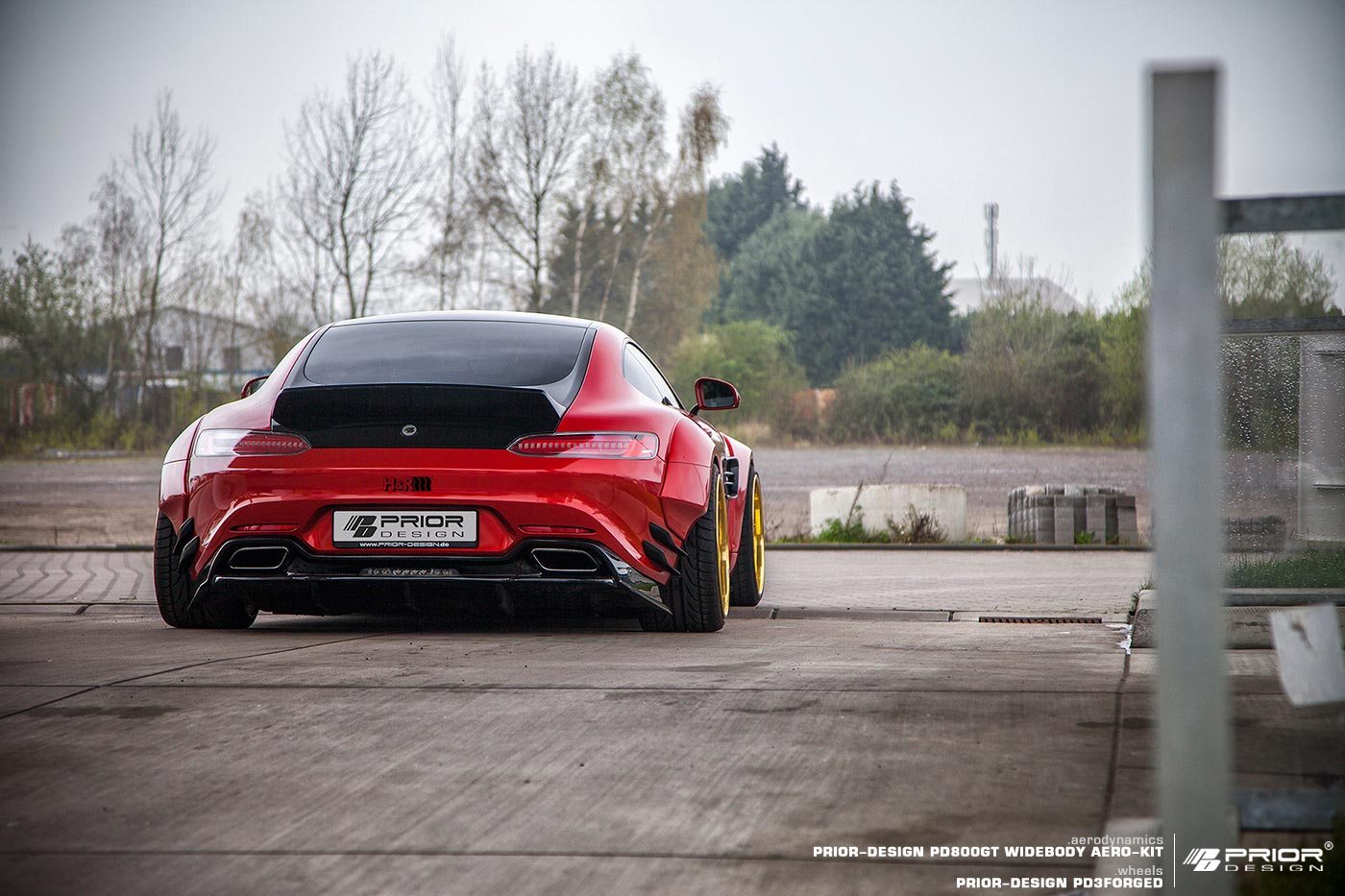Mercedes-AMG GT S red by Prior Design