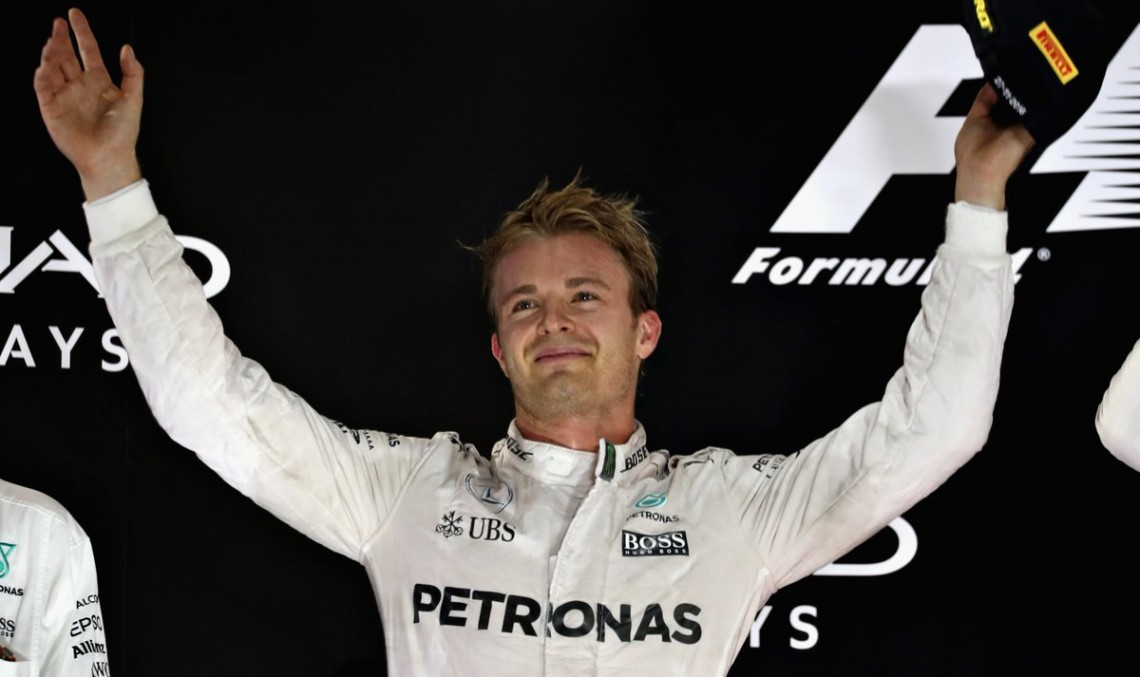 This is the face of the champion! Nico Rosberg wins Formula 1 World Championship