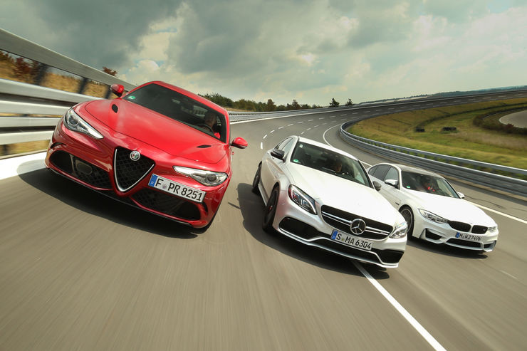 Super sedans alfa romeo giulia qv vs mercedes amg c 63 s for Alfa romeo vs mercedes benz