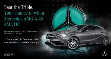 Beat the Triple – How to win a Mercedes-AMG A 45 4MATIC