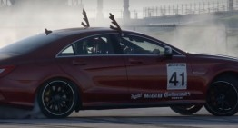 Santa Claus is fast and furious in a Mercedes-AMG CLS 63