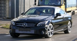 Mercedes C-Class Coupe gets early facelift – FIRST SPY PICS