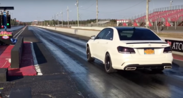 Mercedes-Benz E 63 AMG with 750 PS demolished the 1/4 mile