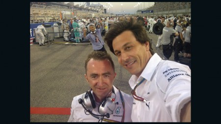 Paddy Lowe and Toto Wolff
