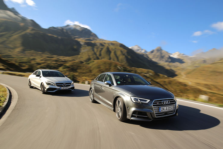 Mercedes-AMG CLA 45 vs. Audi S3: Compact uber-sedans with 300+ hp