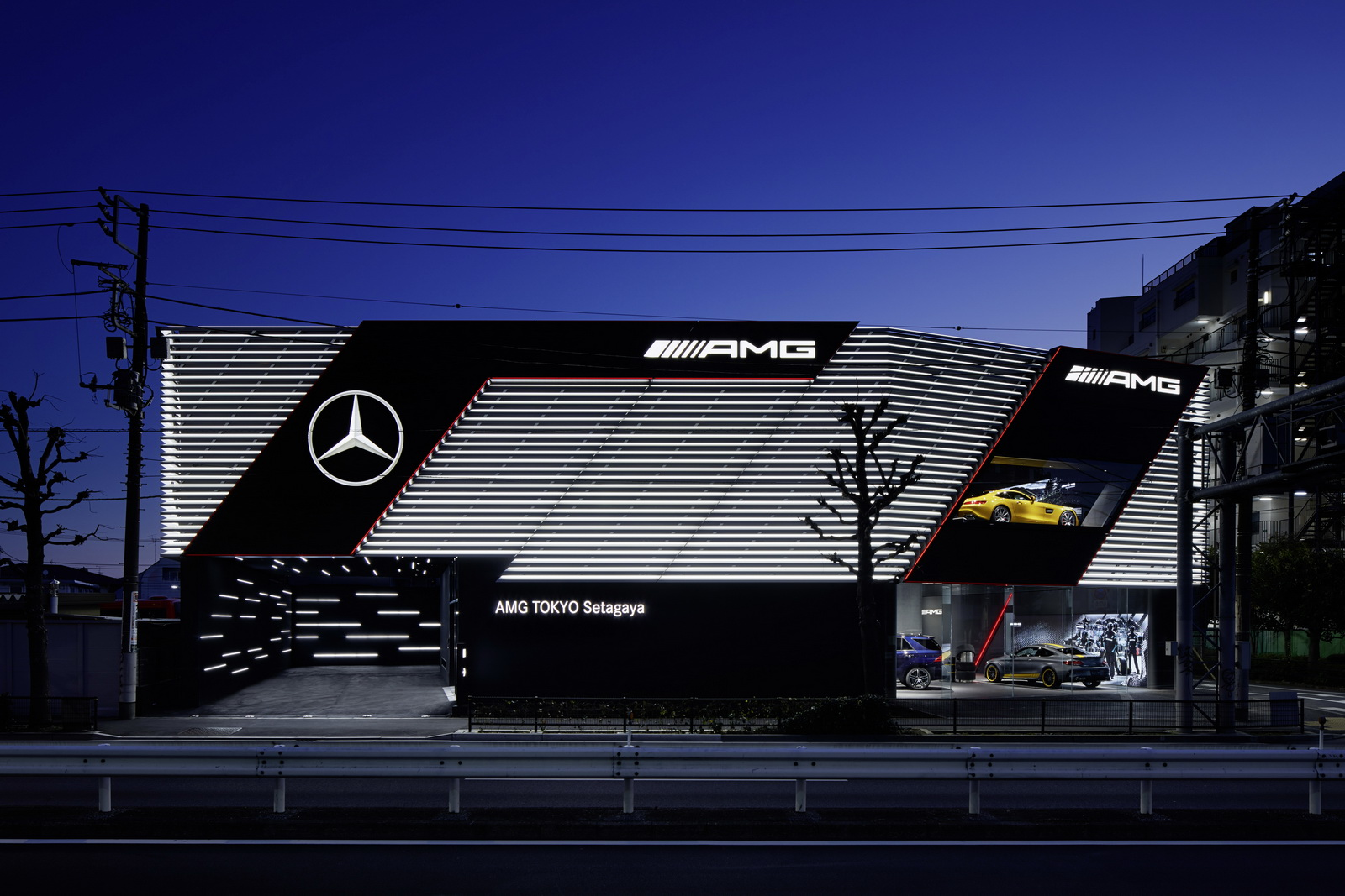 Mercedes-AMG Showroom in Tokio Setagaya ;Mercedes-AMG showroom in Tokyo Setagaya;