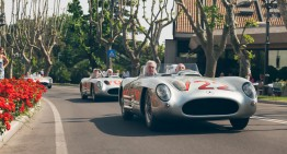 Ten Mercedes-Benz classic cars at the start of the modern Mille Miglia