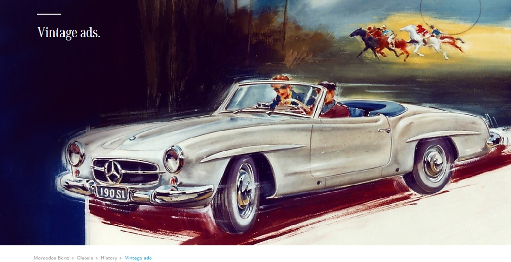 Chasing stars. Here are the Mercedes-Benz vintage ads that charmed us through the years