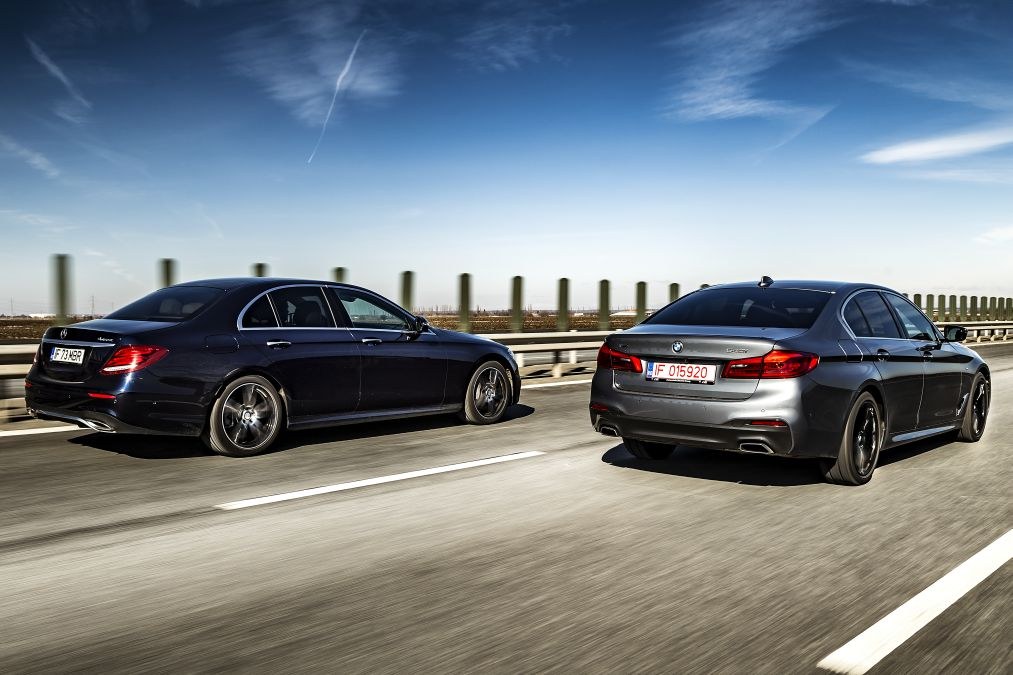 Point Of Convergence Mercedes E 400 4matic Vs Bmw 540i
