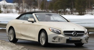 Mercedes S-Class convertible facelift: FIRST SPY PICS