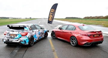 Drag race: How a Merceds-AMG A45 beats the Alfa Romeo Giulia QV