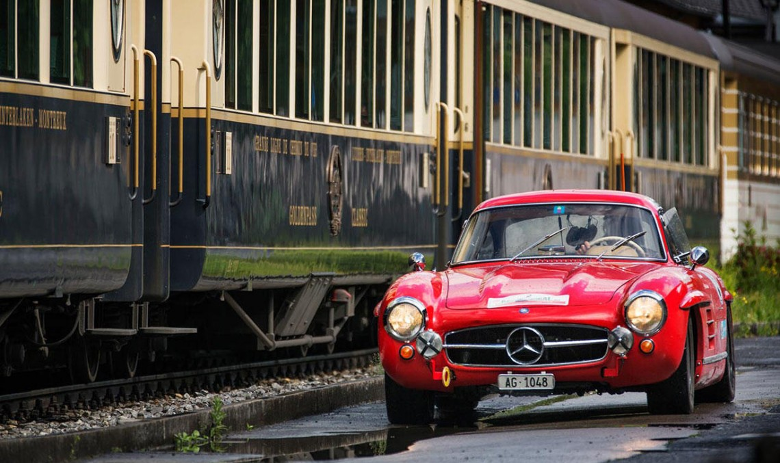 On top of the world with the Mercedes-Benz 300 SL Gullwing