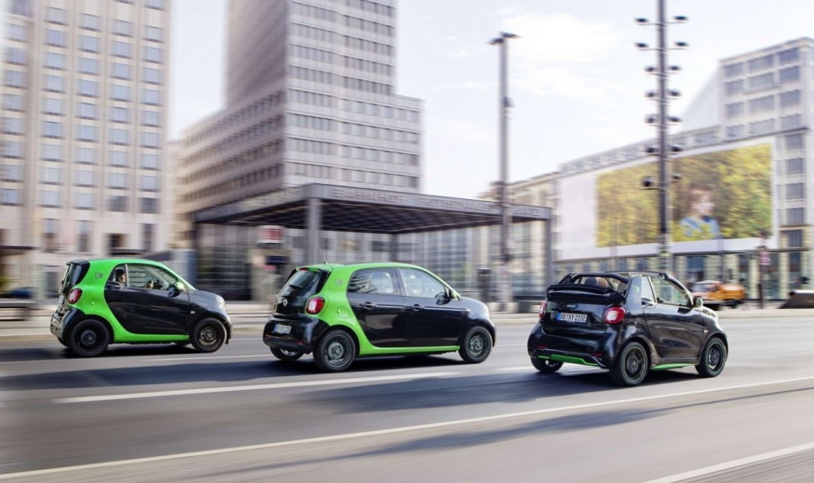 Electric smart fortwo and fourfour priced from 21,940 euros