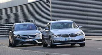 Mercedes E 220 d vs. BMW 520d: The eternal duel of business sedans