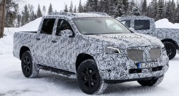 Mercedes X-Class: Pick-up shows production body during winter testing