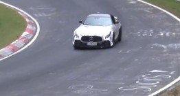 Could this be it? The Mercedes-AMG GT R Black Series caught testing at the Nurburgring