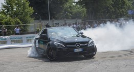 Mercedes-AMG driver Valtteri Bottas turned the lab into a race track