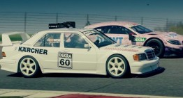 Grandson meets grandpa! Mercedes C63 AMG DTM takes on the 190E EVO II DTM