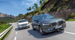 WORLD FIRST TEST: New Volvo XC60 versus Mercedes GLC