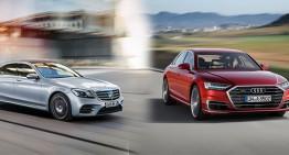 The new Audi A8 vs Mercedes S-Class facelift