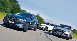 Mercedes GLC 250 d against Volvo XC60 D4 and Audi Q5 2.0 TDI