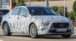 New Mercedes A-Class sedan, caught! FIRST EVER PICTURES