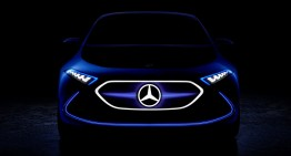 Mercedes EQ A Concept teased ahead of its Frankfurt debut