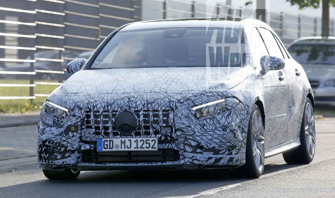 All-new Mercedes-AMG A 45: 400 hp hot hatch caught for the first time
