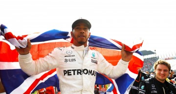 The Mercedes-AMG driver Lewis Hamilton wins the World Championship title in Mexico!