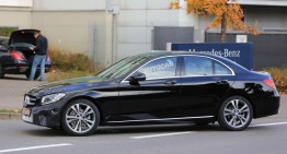 I spy: Mercedes-Benz C-Class facelift caught almost camouflage-free