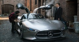 Justice League: Batman drives a Mercedes supercar