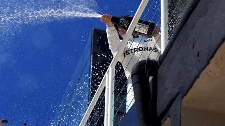 Bottas champagne GP Brazil