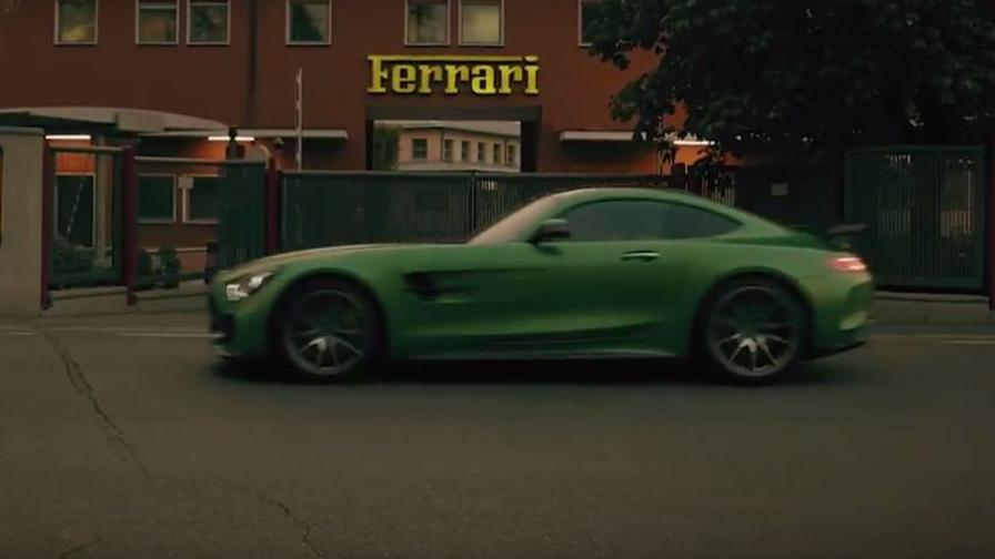 The intruder. The Mercedes-AMG GT R hits Maranello