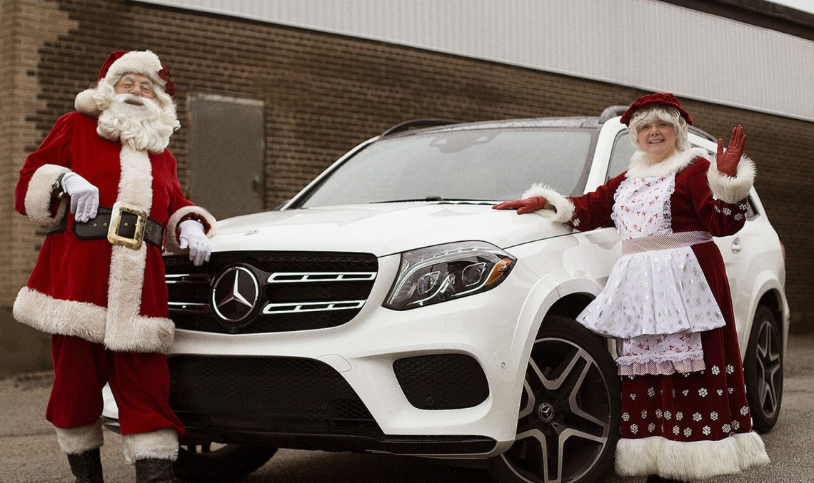 Mercedes-Benz, the star-nosed reindeer at the Santa Claus Parade