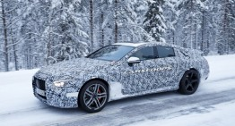 The 4-door Mercedes-AMG GT braves the cold in winter tests