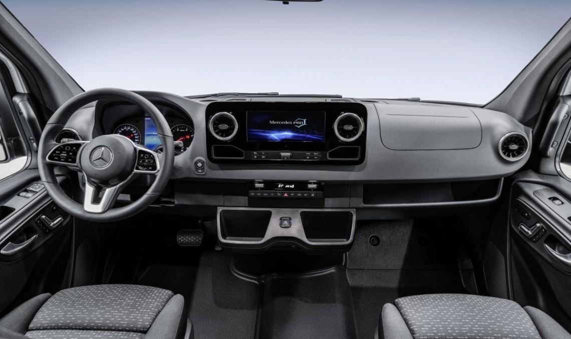 New Mercedes-Benz Sprinter interior revealed: Big van, big screen