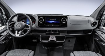 New Mercedes-Benz Sprinter interior revealed: Big van, big screen