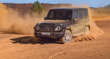 The new Mercedes-Benz G 350d and 400d underway in Europe