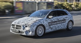 Spotted in Vegas – The new Mercedes-Benz A-Class runs camouflaged around the city of gambling
